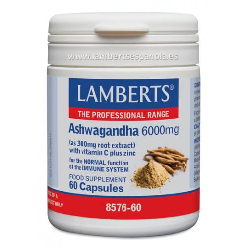 ASHWAGANDA 6000MG 60 CAPS LAMBERTS