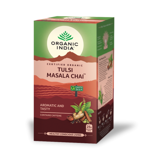 TULSI MASALA CHAI (ESTRES/REJUVENECE) 18 SOBRES ORGANIC INDIA SATYALOKA