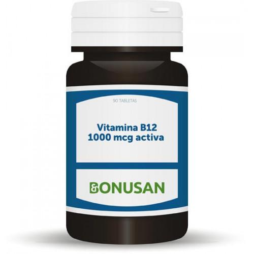VITAMINA B12 1000 MCG ACTIVA 90 COMP SUBLINGUAL BONUSAN