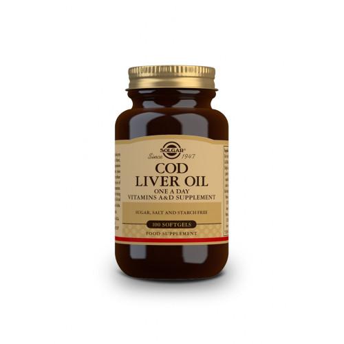 ACEITE HIGADO BACALAO (COD LIVER OIL) 100 CAP SOLGAR