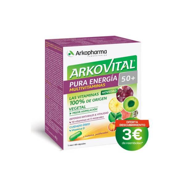 ARKOVITAL PURA ENERGIA SENIOR +50 60 CAPS