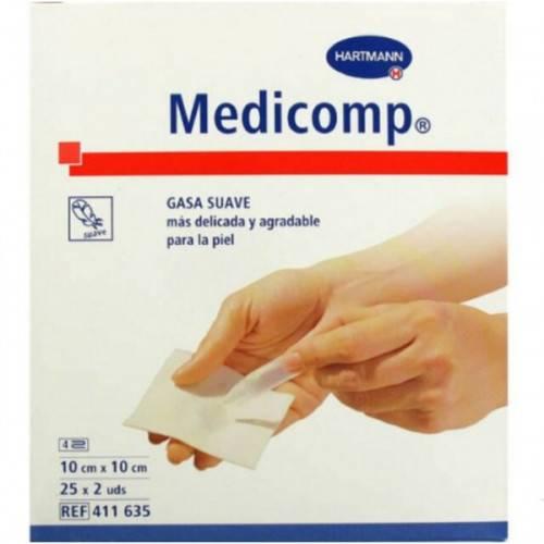 GASA 10X10 CM 50 GASAS MEDICOMP HARTMANN