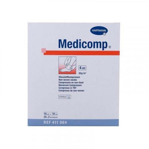 COMPRESAS APOSITO ADHESIVO ESTERIL 10X10 CM MEDICOMP HARTMANN