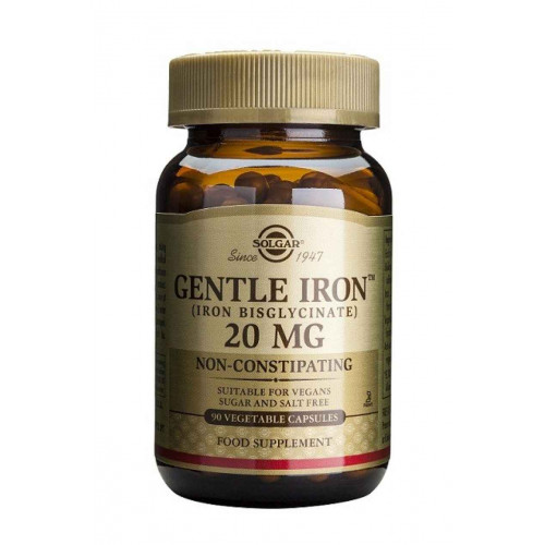 HIERRO GENTLE (IRON) 20 MG 90 CAP SOLGAR