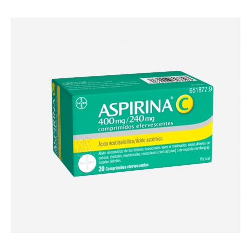 ASPIRINA C EFERVESCENTE 20 COMP BAYER