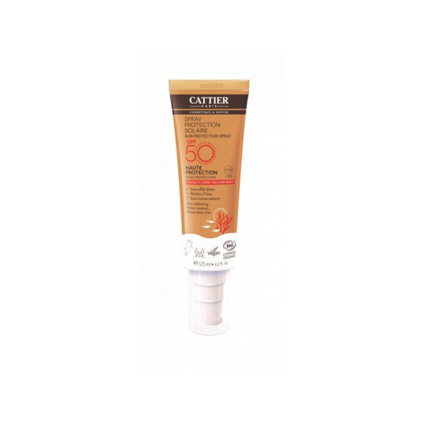 CATTIER PROTECTOR SOLAR SPRAY SPF50 CARA CUERPO BIO 125 ML