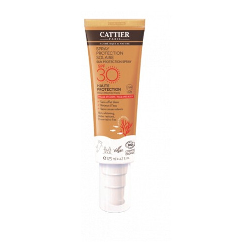 CATTIER PROTECTOR SOLAR SPRAY SPF30 CARA CUERPO BIO 125 ML