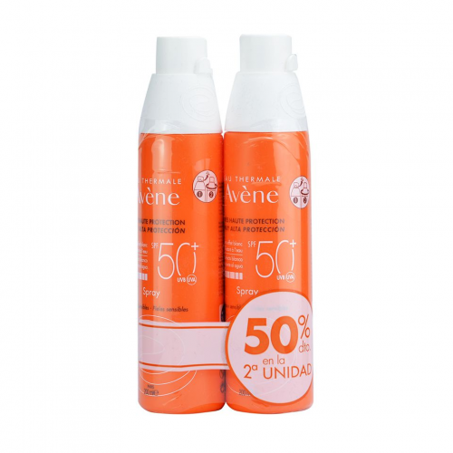 AVENE SOLAR SPRAY SPF50 200ML (DUPLO-2ªUNIDAD 50%)