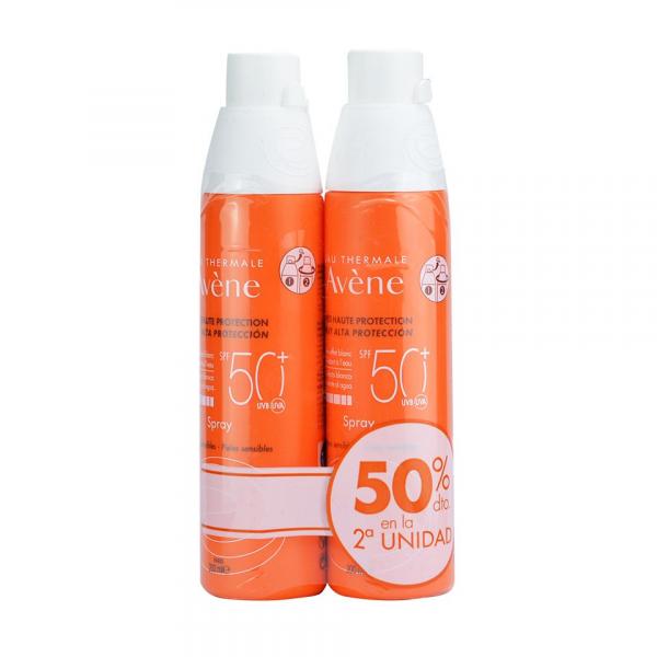 AVENE SOLAR SPRAY SPF50 200ML (DUPLO-2ªUNIDAD 50%)