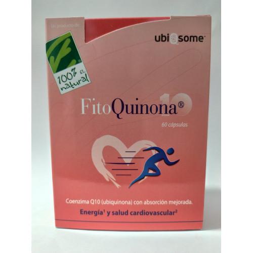 FITOQUINONA 10 (CO Q10 LIPOSOMADA) 60 CAPSULAS CIEN POR CIEN NATURAL