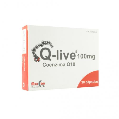 Q-LIVE Q 10 100MG 30 CAPSULAS MARGAN BIOTECH