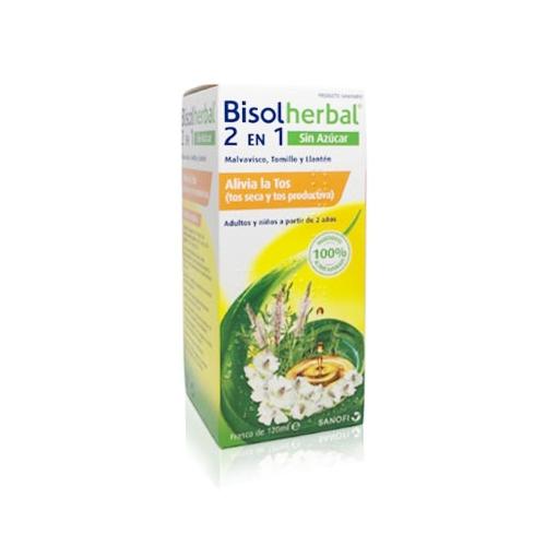 BISOLHERBAL 2 EN 1 JARABE 120 ML SIN AZUCAR SANOFI