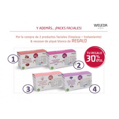 WELEDA PACK REAFIRMANTE FACIAL ANTIOXIDANTE GRANADA (CREMA DIA + ESPUMA LIMPIADORA + NECESER)