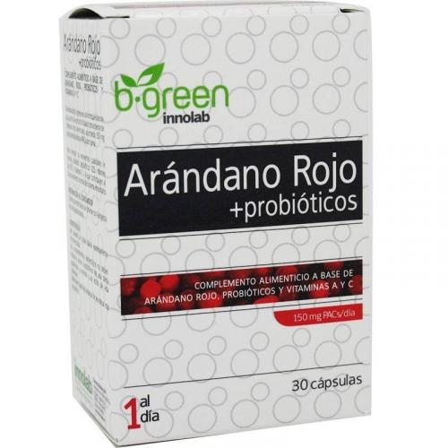 ARANDANO ROJO + PROBIOTICOS  30 CAPSULAS BE GREEN