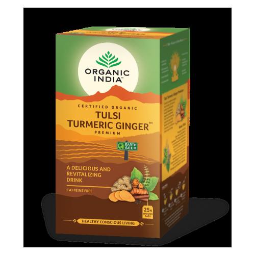 TULSI TURMERIC GINGER (REVITALIZANTE) 25 SOBRES ORGANIC INDIA