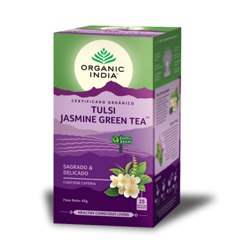 TULSI JASMINE GREEN TEA (SAGRADO Y DELICADO) 25 SOBRES ORGANIC INDIA