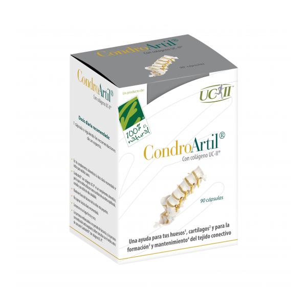CONDROARTIL CON COLAGENO UC-II 90 CAP CIEN POR CIEN NATURAL