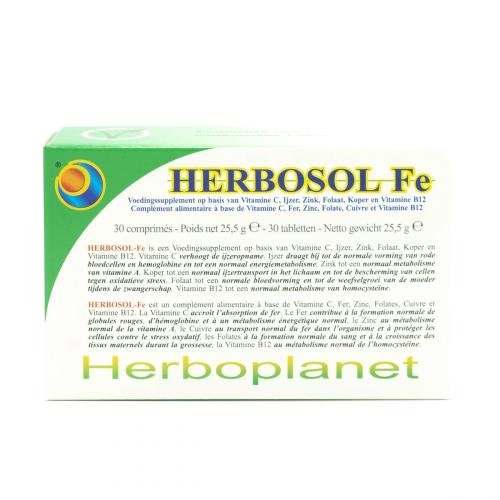 HERBOSOL FE (HIERRO  30 MG) 30 COMP HERBOPLANET