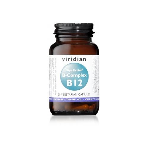 HIGH TWELVE VITAMIN B12 CON B-COMPLEX 30 VEG CAPS VIRIDIAN