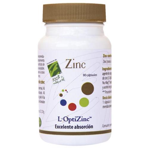 ZINC OPTIZINC (ZINC METIONINA) 20 MG 90 CAP CIEN POR CIEN NATURAL