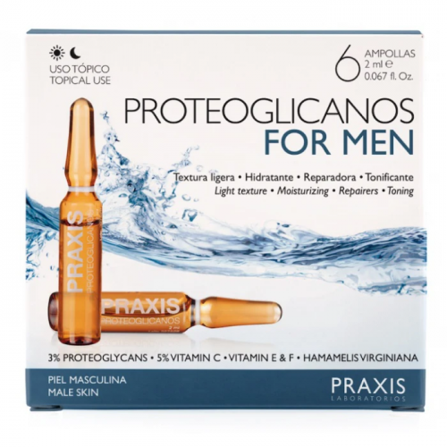 PROTEOGLICANOS FOR MEN (HOMBRE) 6 AMP 2 ML PRAXIS