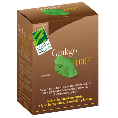 GINKGO 100 60 CAP CIEN POR CIEN NATURAL