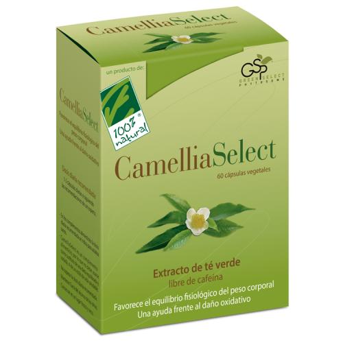 CAMELLIASELECT (TE VERDE SIN CAFEINA) 60 CAP CIEN POR CIEN NATURAL
