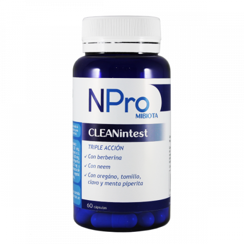 NPRO CLEANTINTEST 60 CAP NATURAL PROBIOTICS