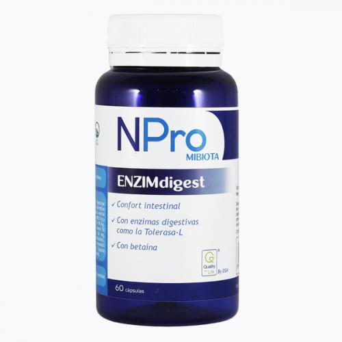 NPRO ENZIMDIGEST 60 CAP NATURAL PROBIOTICS