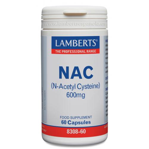 NAC N ACETILCISTEINA 600 MG 90 CAP LAMBERTS