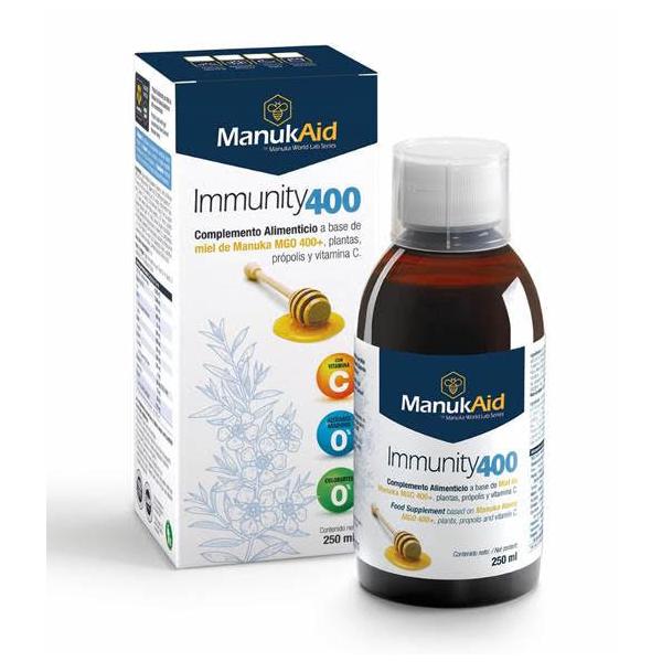 MANUKAID IMMUNITY400 JARABE 250 ML MANUKA WORLD