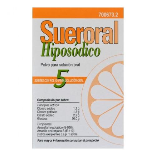 SUERORAL CASEN HIPOSODICO POLVO SOLUCION ORAL 5 SOBRES