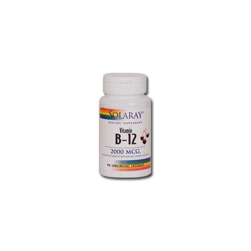 VITAMINA B-12 2000 MCG 90 COMP SUBLING SOLARAY