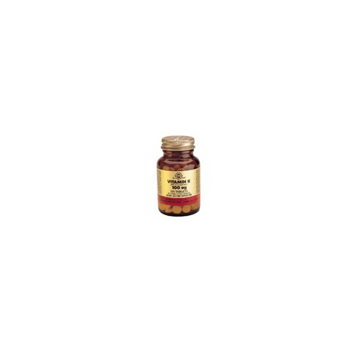 VITAMINA K NATURAL 100 MCG 100 COMP SOLGAR